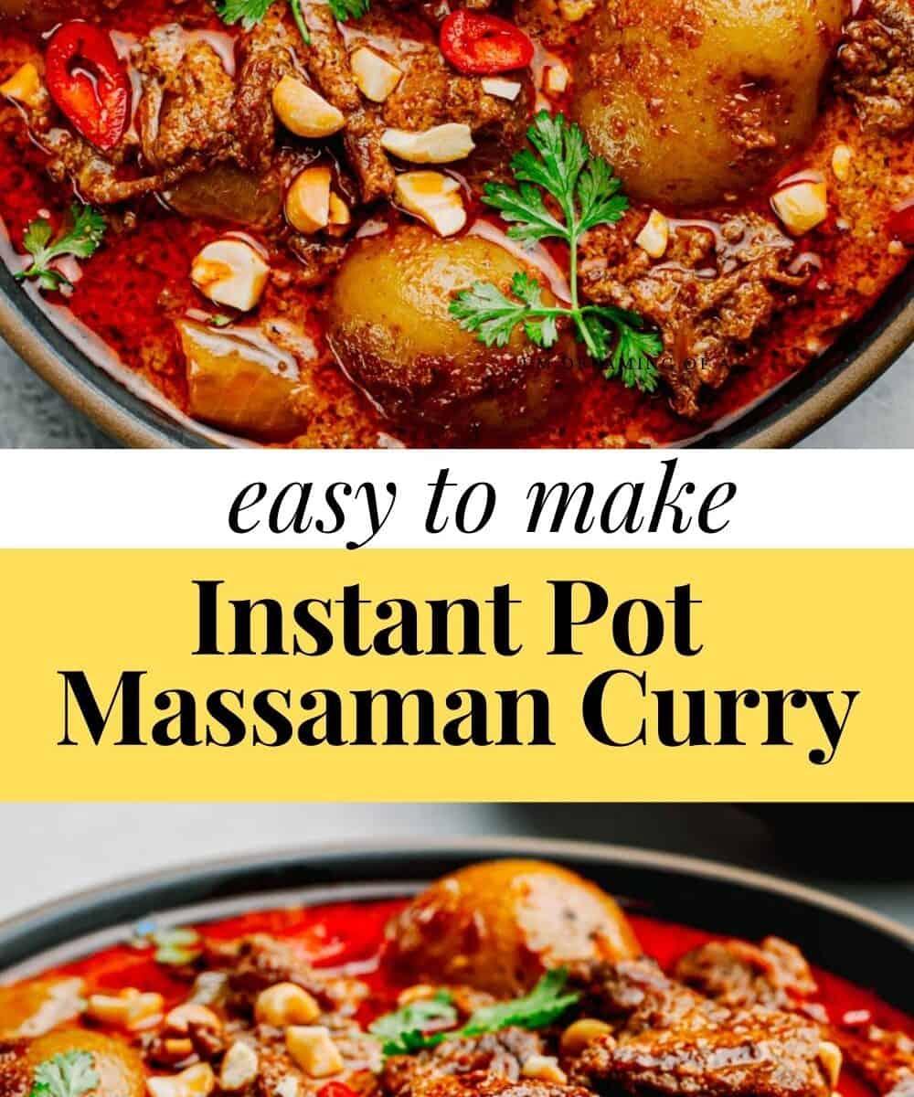 Instant Pot Massaman Curry.