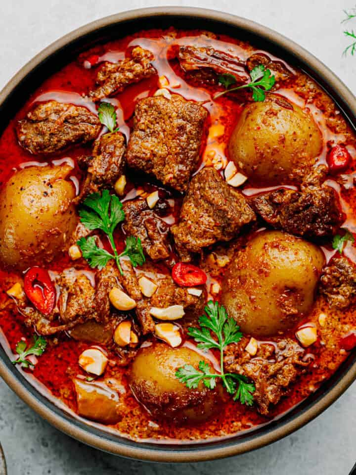 Instant Pot Massaman Curry with Beef.