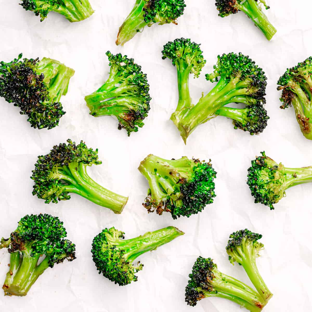 Lightly charred broccoli.