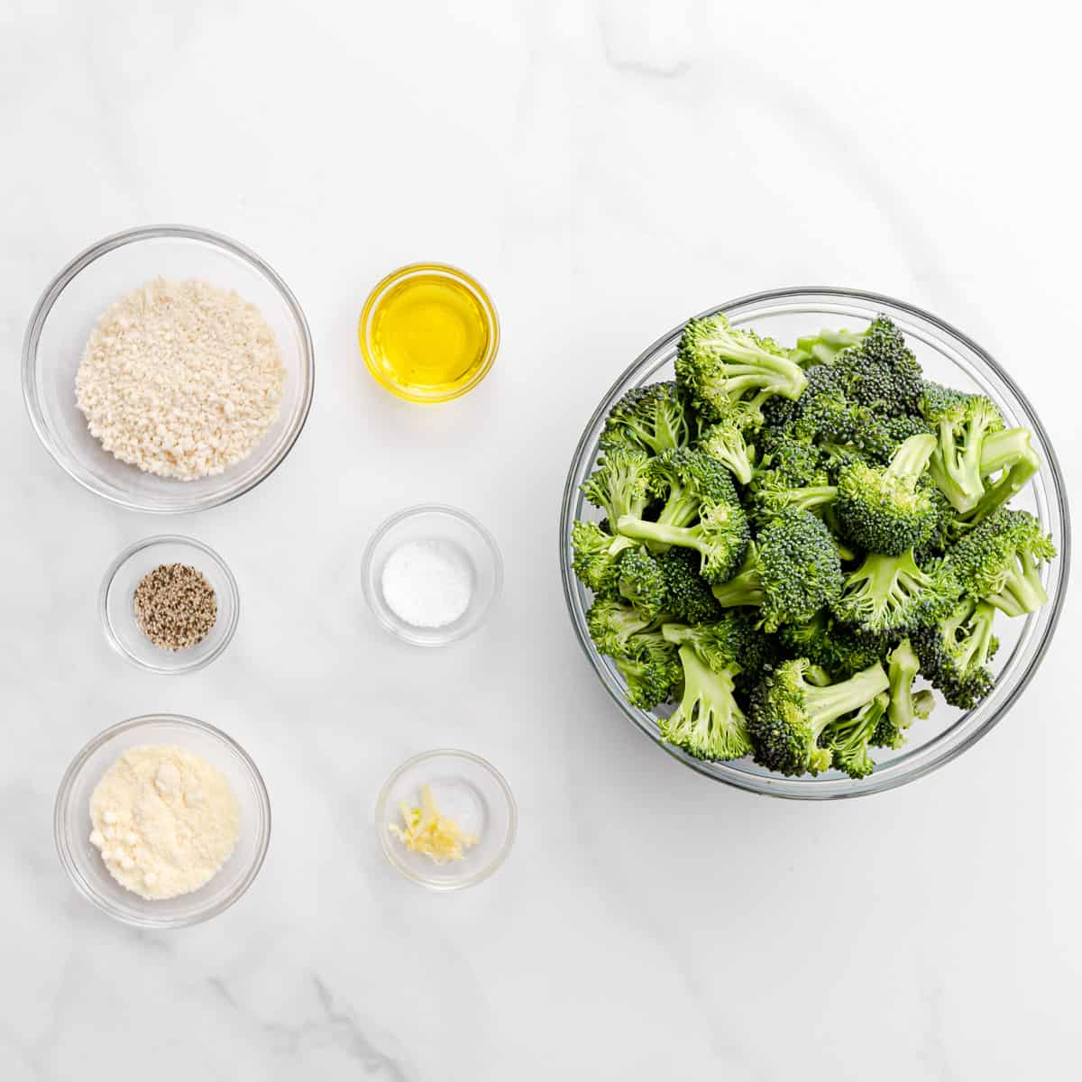 The Ingredients for Roasted Broccoli.