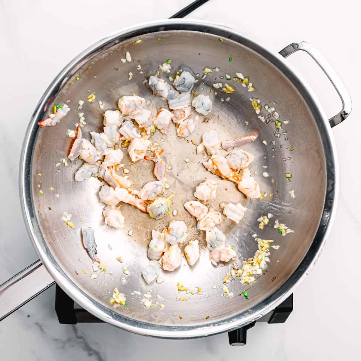 stir-fried shrimp.