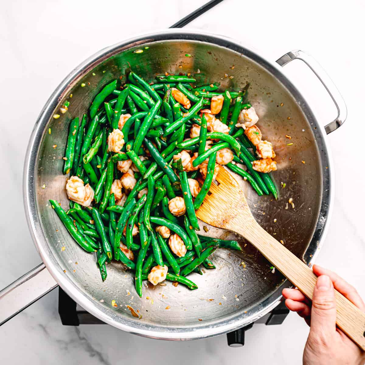 shrimp stir fry.
