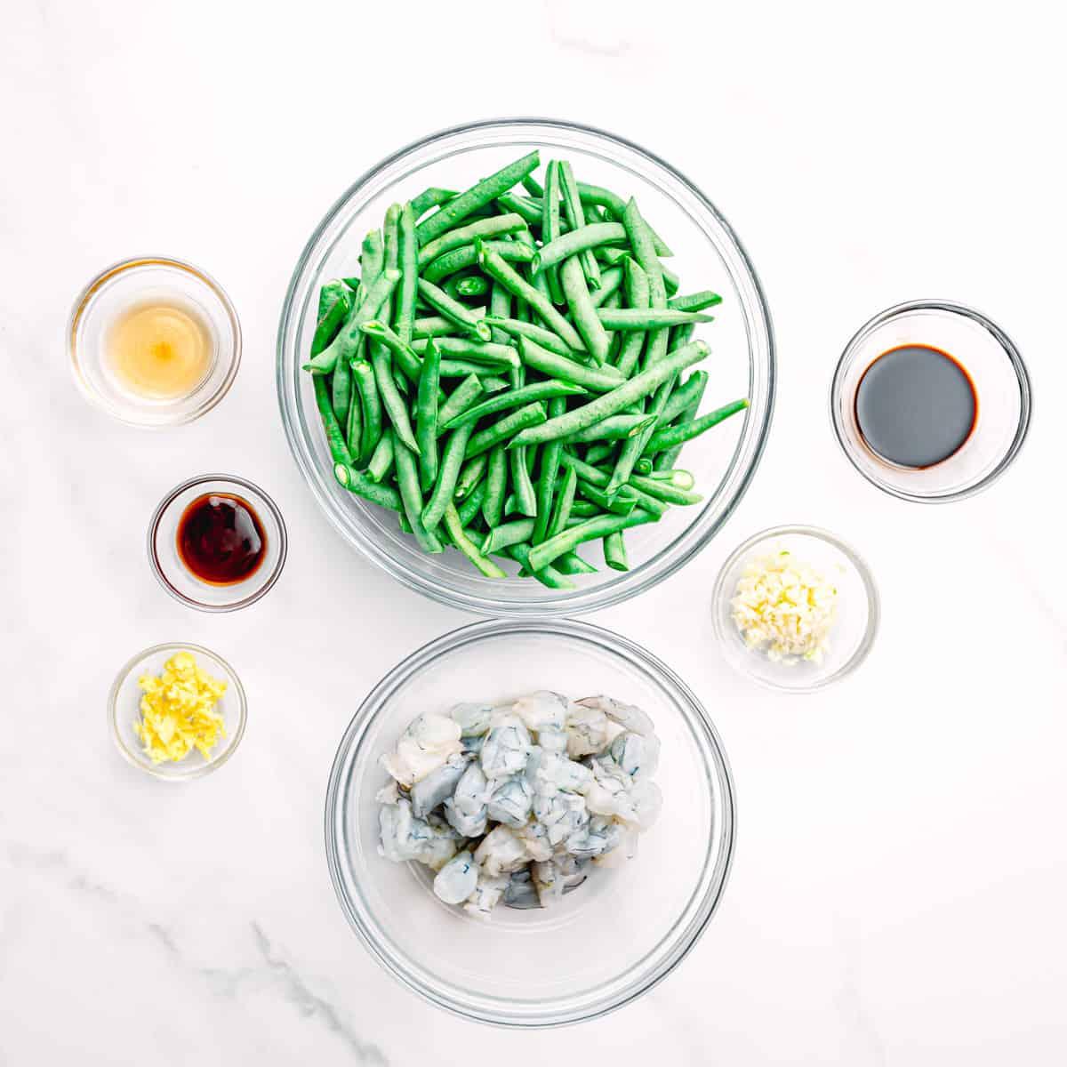 stir fry ingredients.