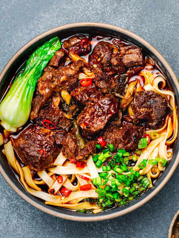 Taiwanese Beef Noodle Soup .