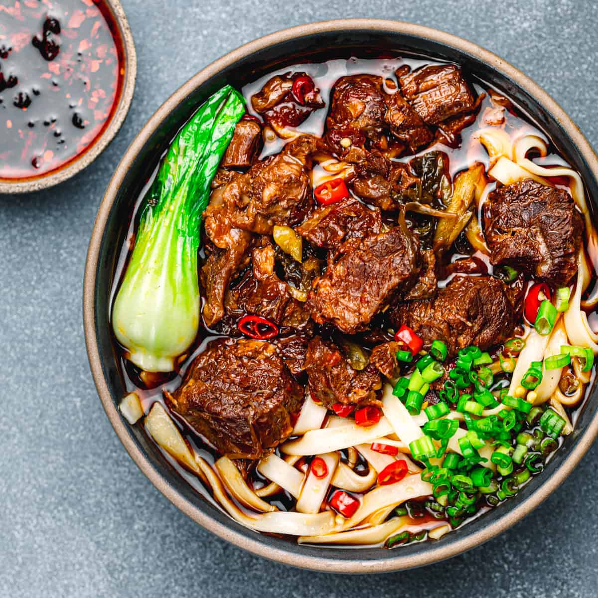 Delicious Taiwanese Beef Noodle Soup.