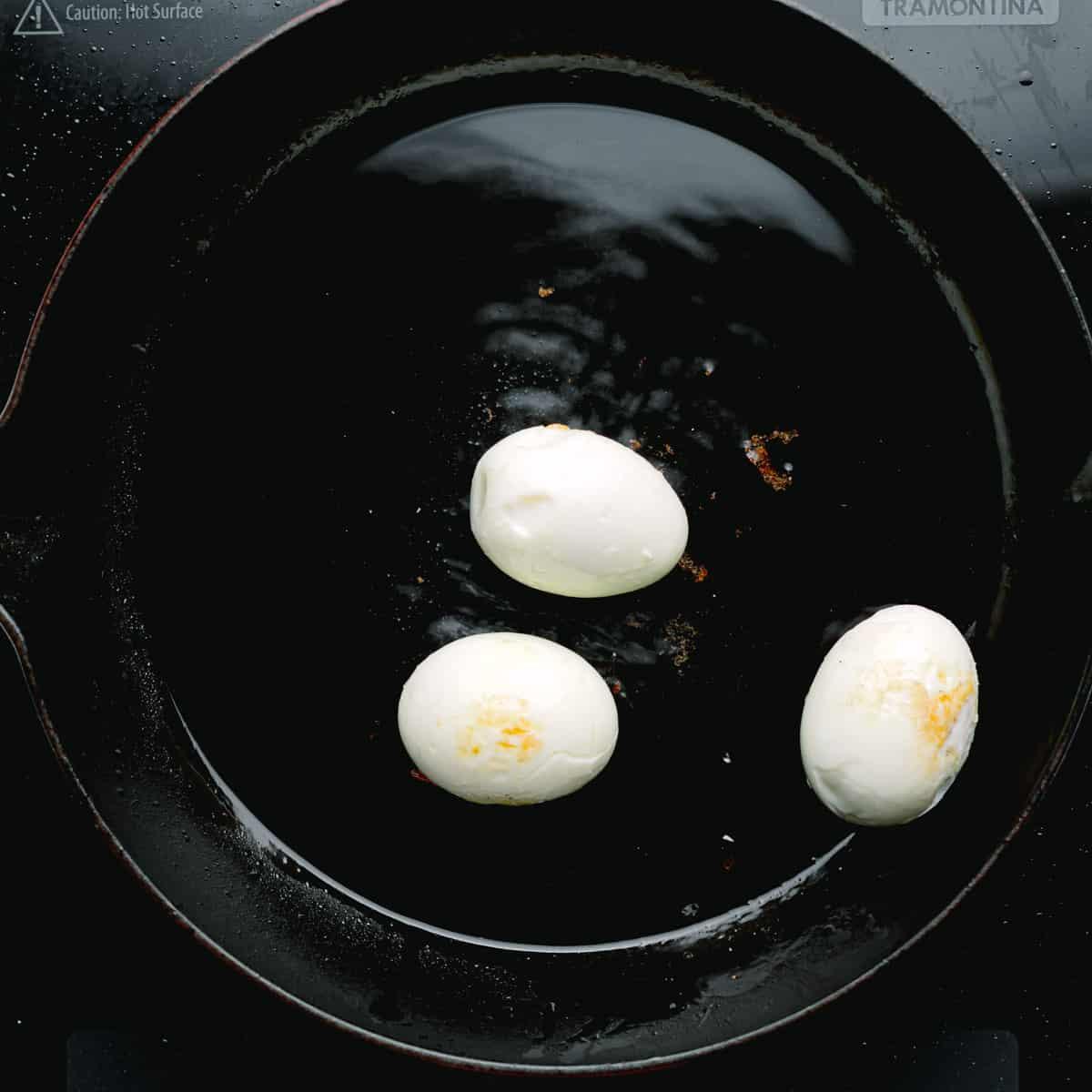 deep-fried hard-boiled eggs.