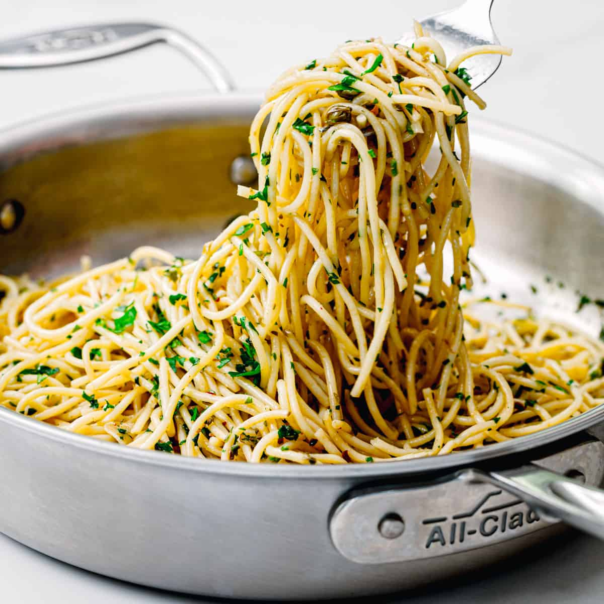 anchovy pasta with capers.