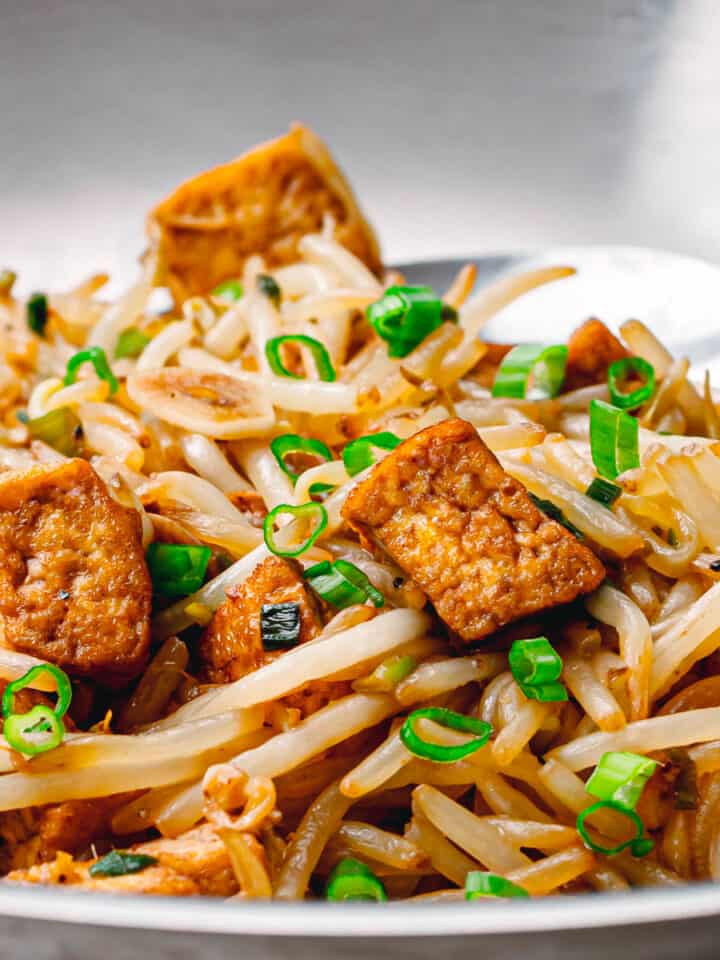bean sprout stir fry with tofu