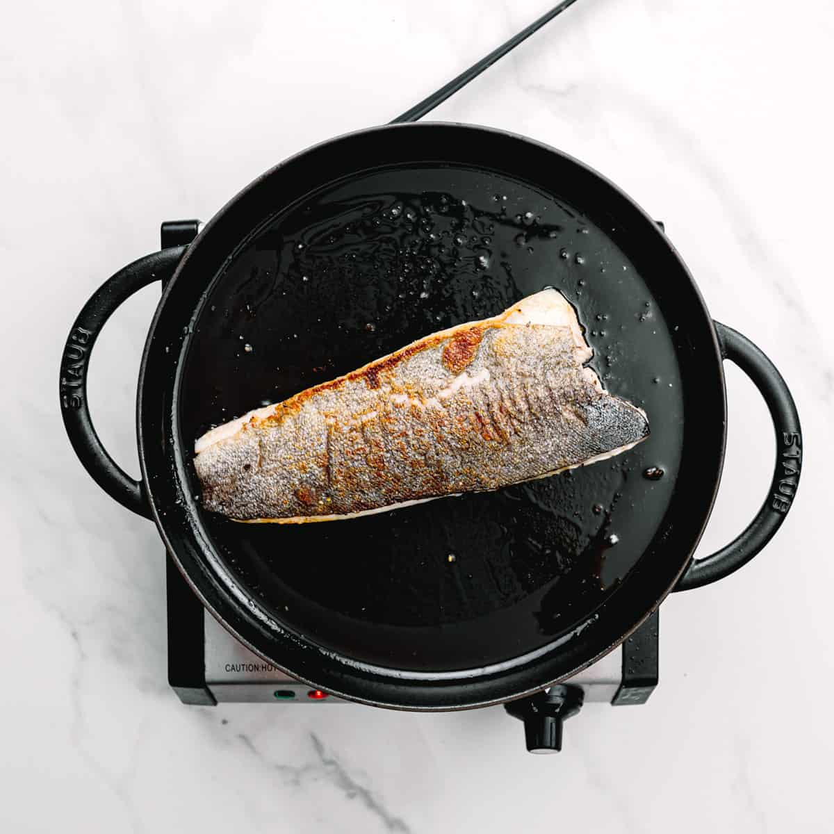 cook the fish fillets in a cast iron skillet.