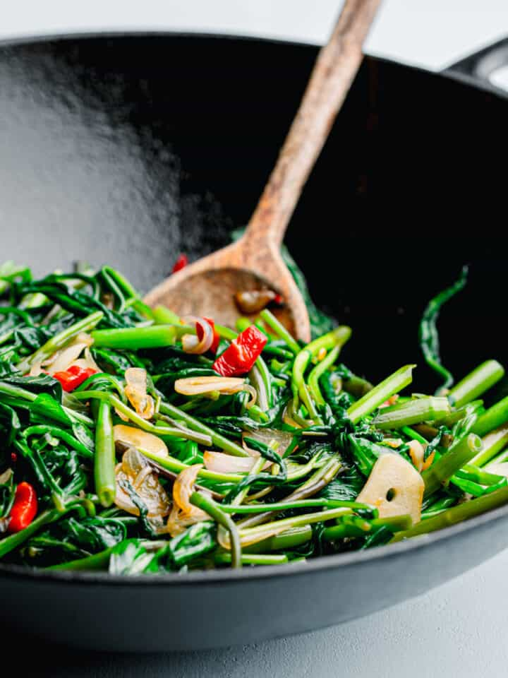 Water Spinach Stir Fry, Ong Choy