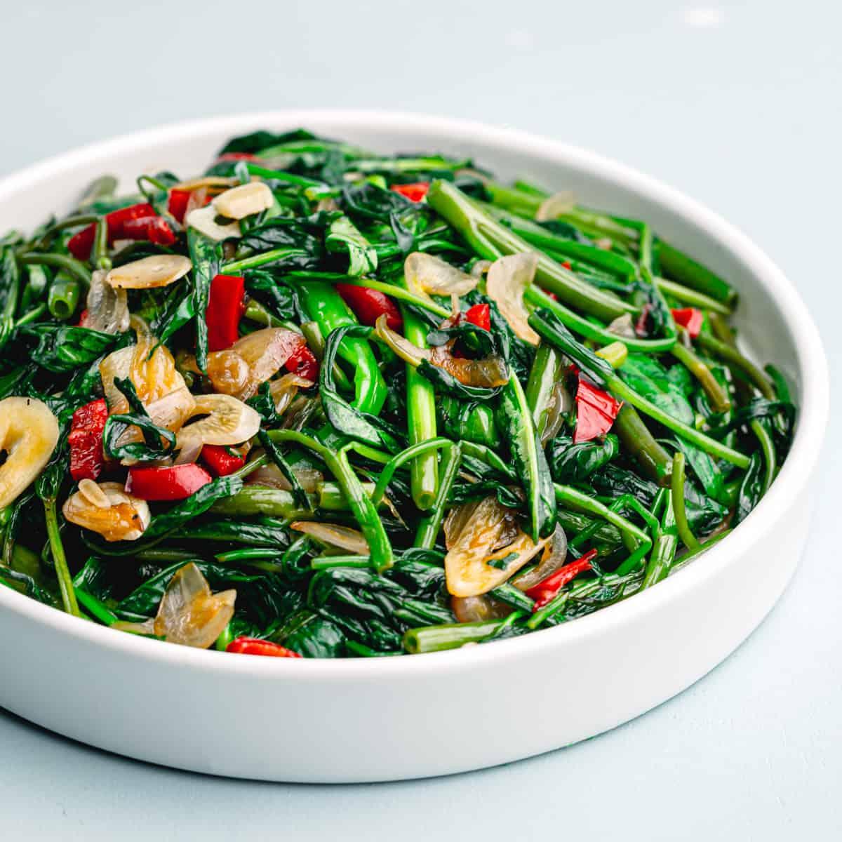 water spinach stir fry.
