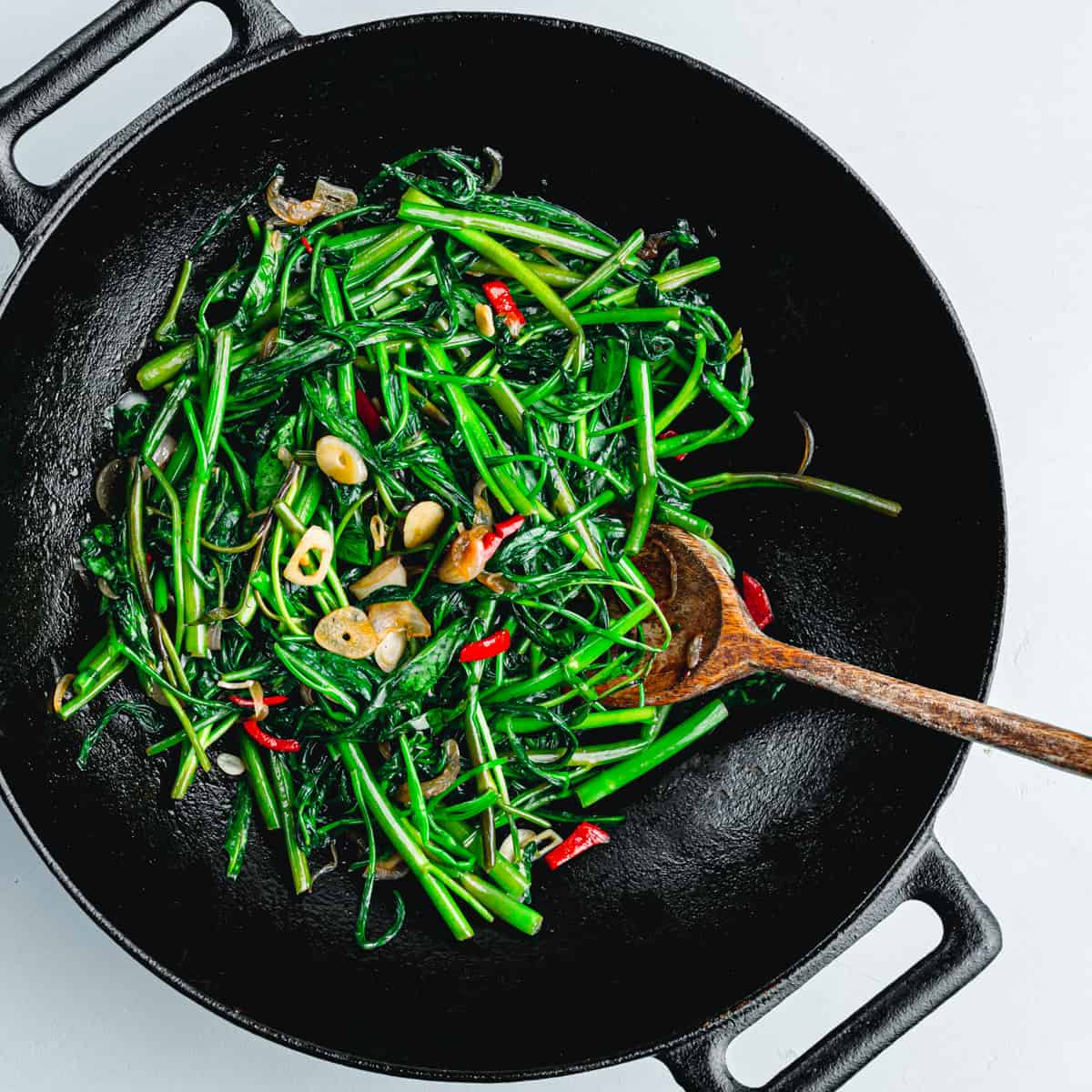 Kangkung stir fry (Ong Choy)
