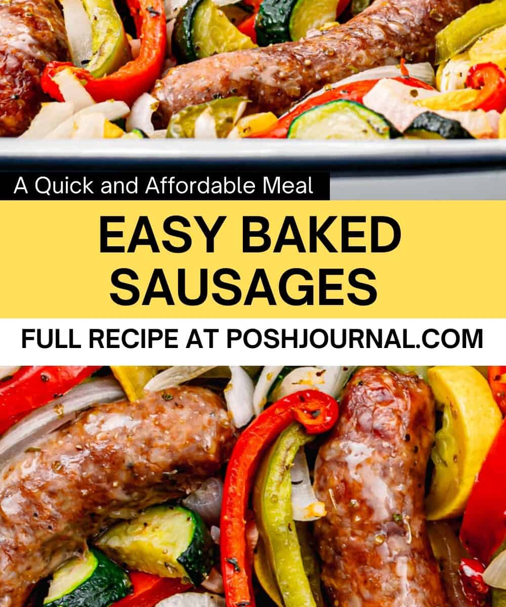 Baked Sausages with Mixed Vegetables.