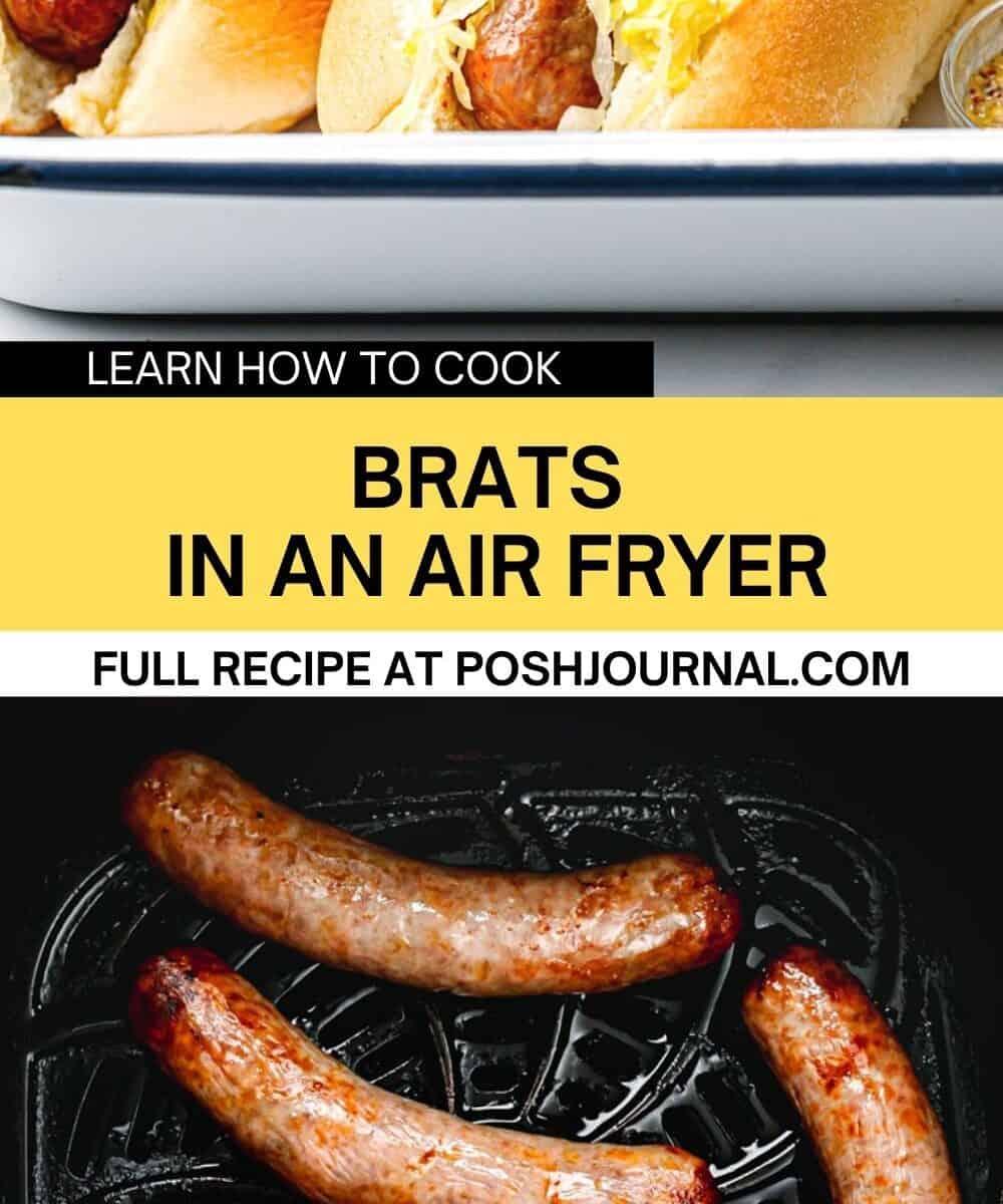 brats in an air fryer