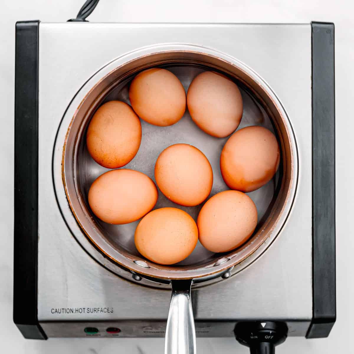 boiling eggs.