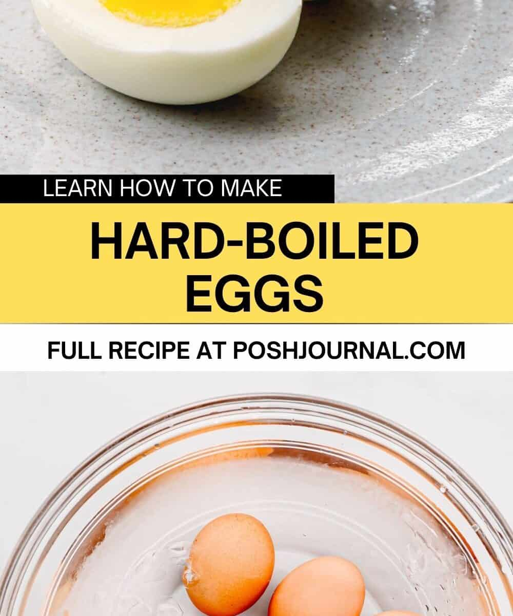How to make hard-boiled eggs.