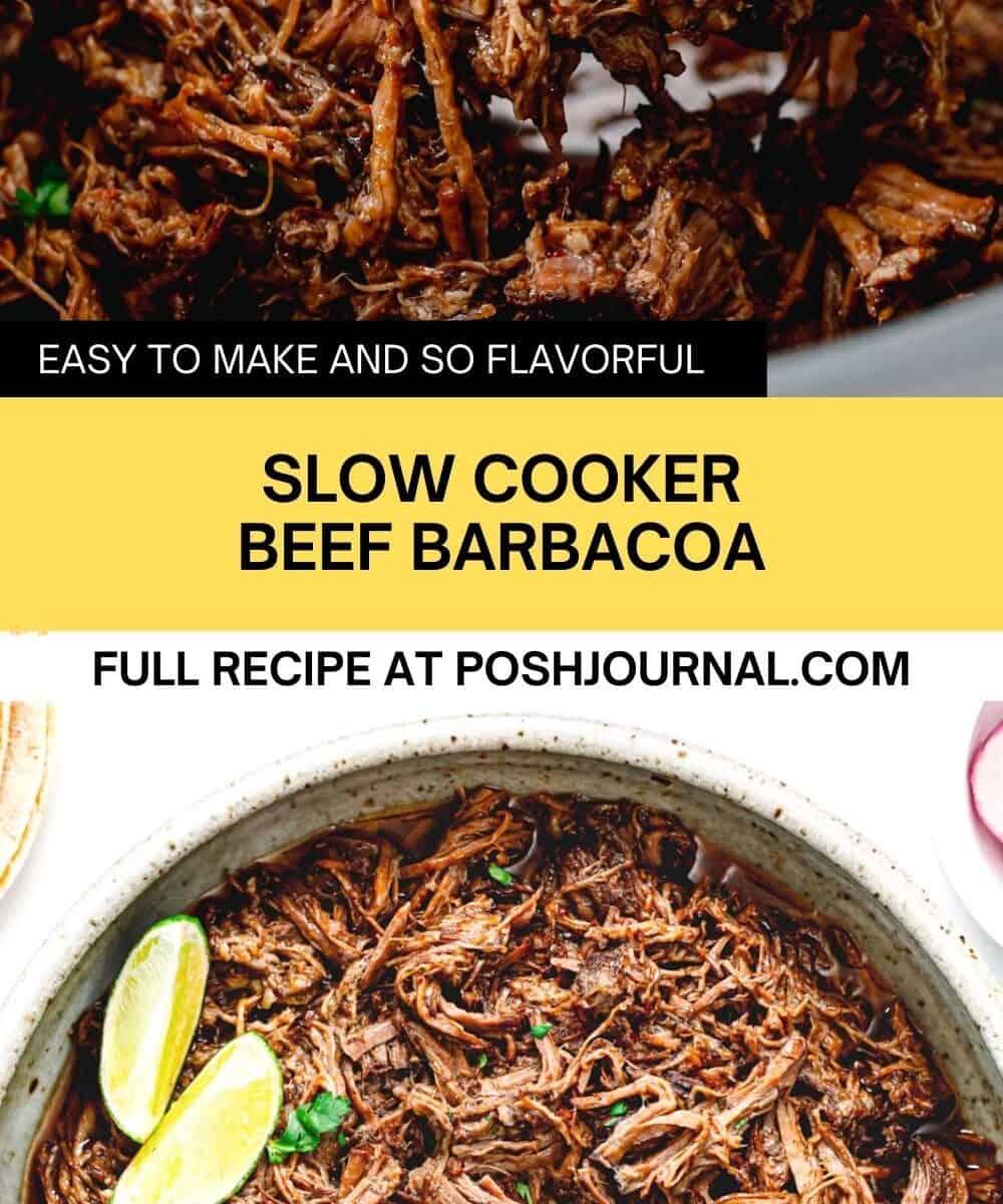 Slow cooker beef barbacoa.