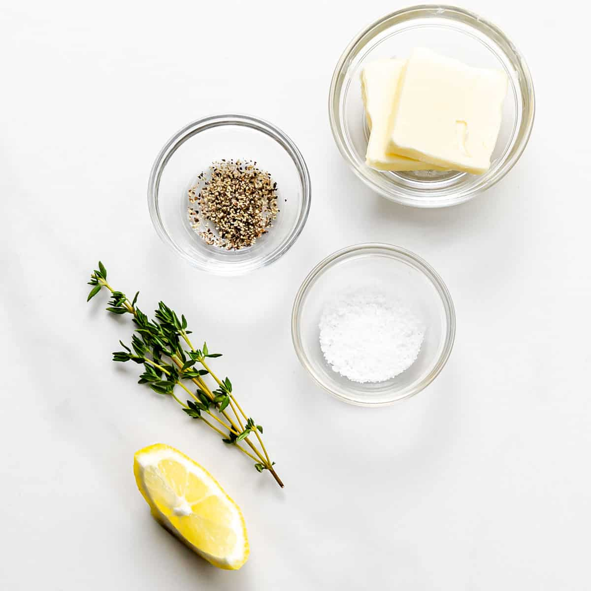 ingredients for lemon butter.
