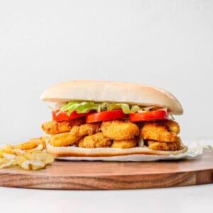 shrimp po boy sandwich recipe.