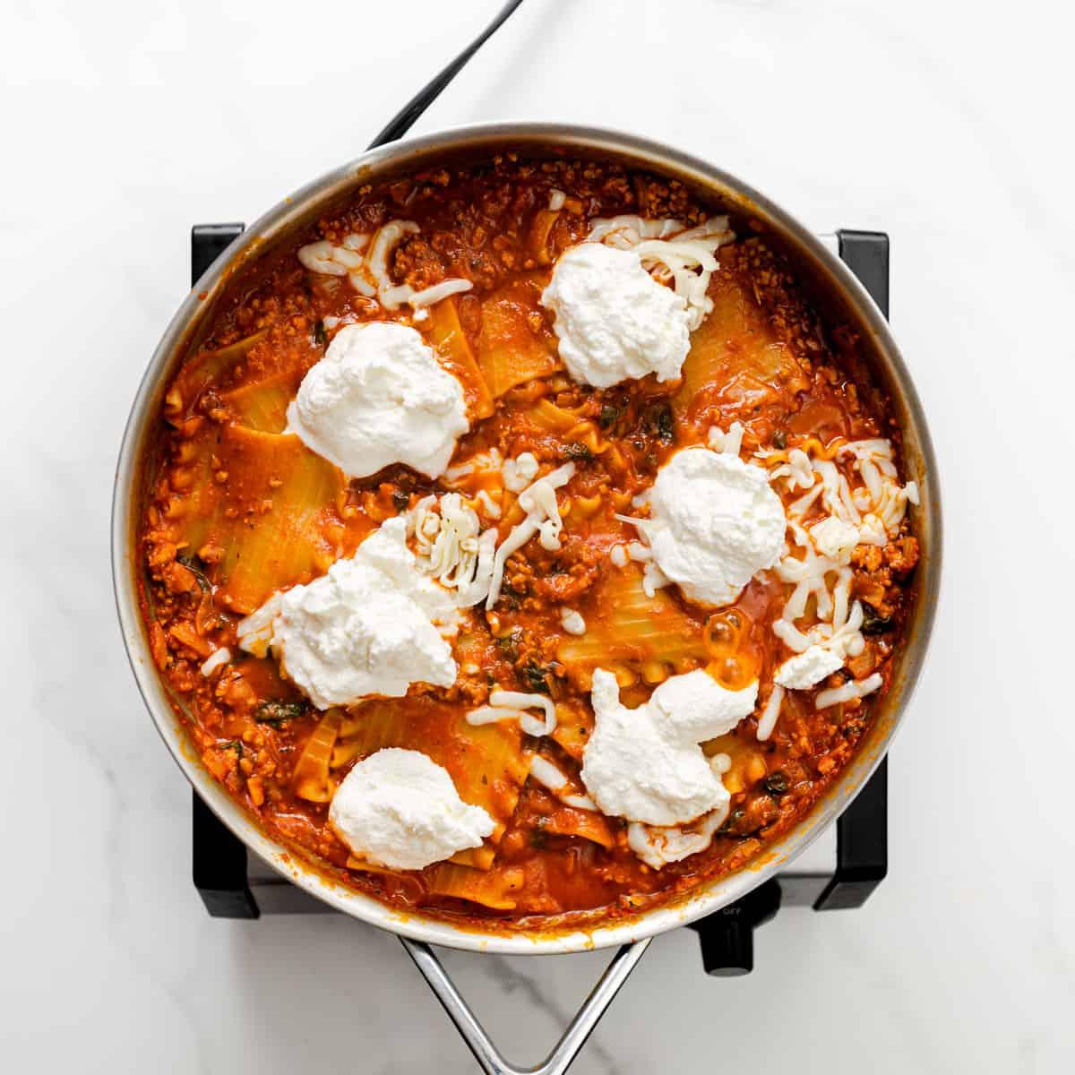 pasta and ricotta cheese.