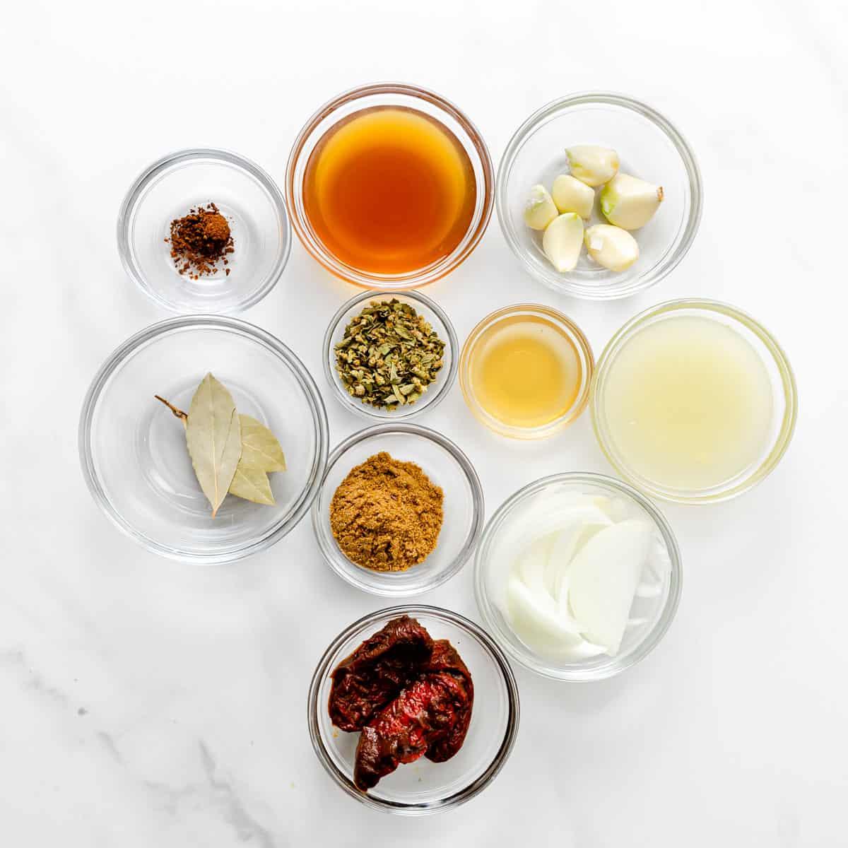 ingredients for barbacoa.