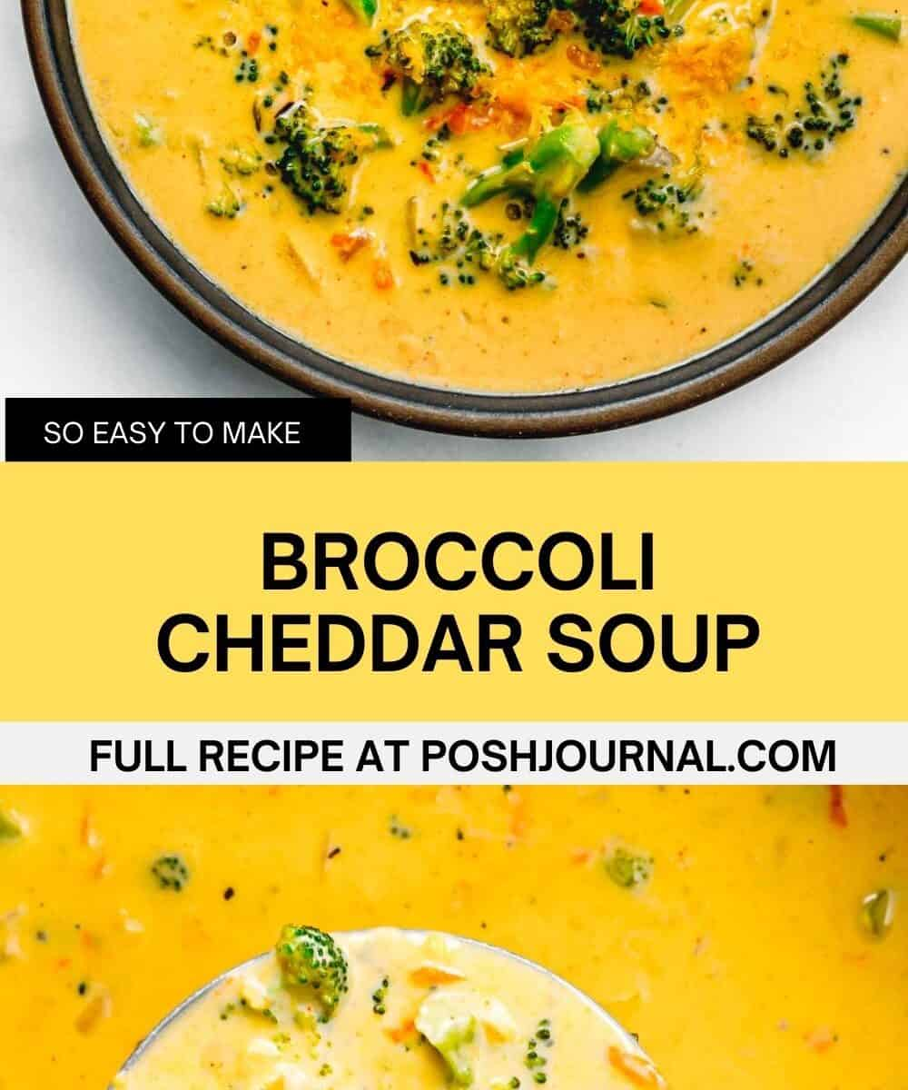 Broccoli Cheddar Soup Recipe.