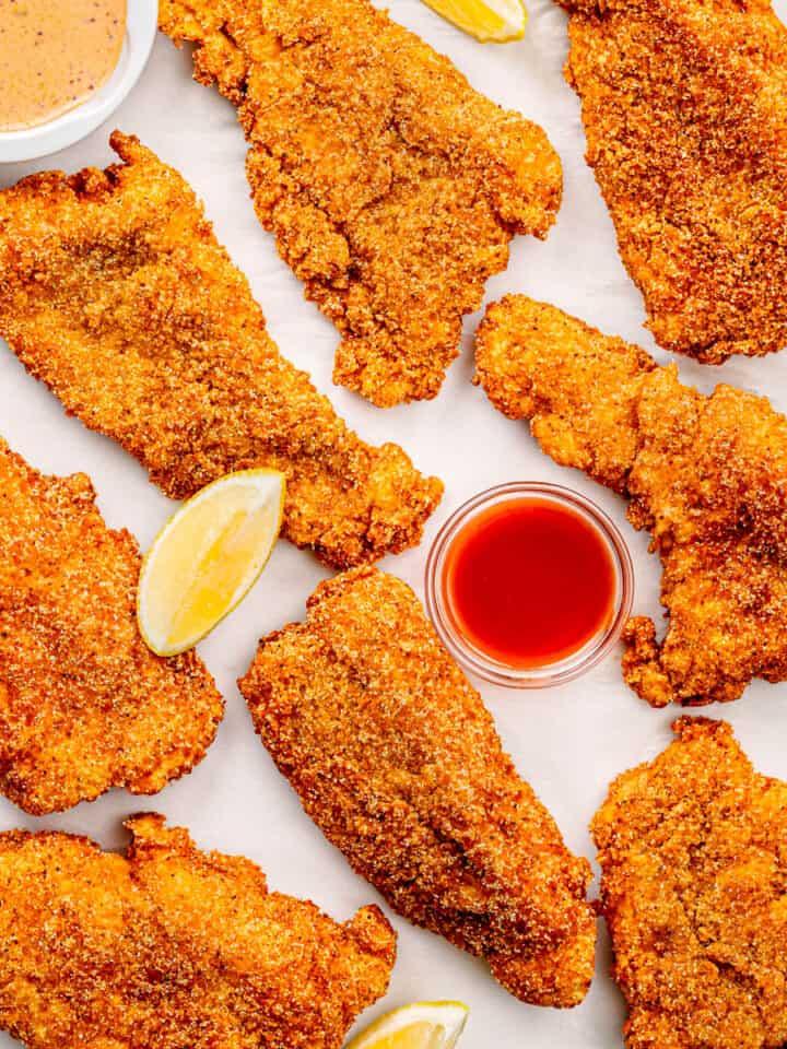 fried catfish fillets.